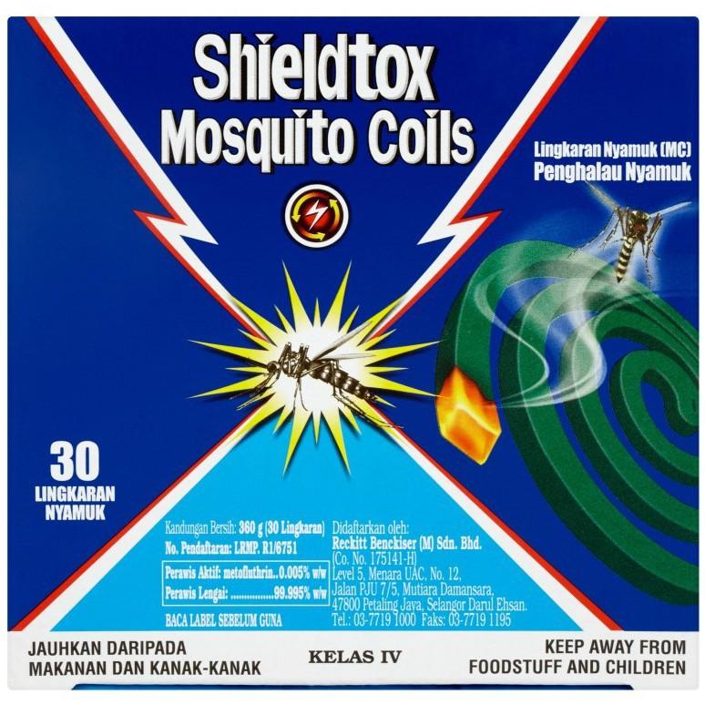 Shieldtox Mosquito Coils (30 Coils/360g)