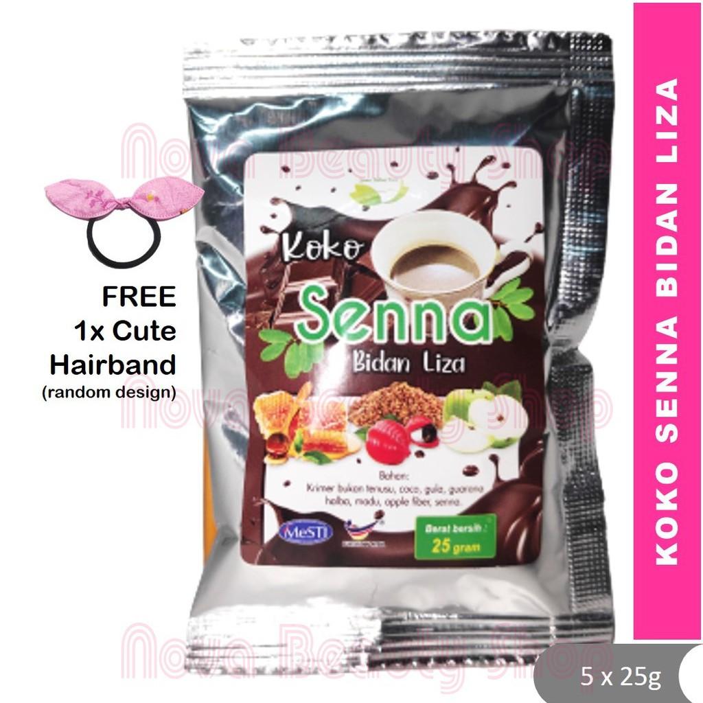 Koko Senna Bidan Liza 5 sachet Melangsingkan Merampingkan Slimming Coco Senna Chocolate Weight Loss