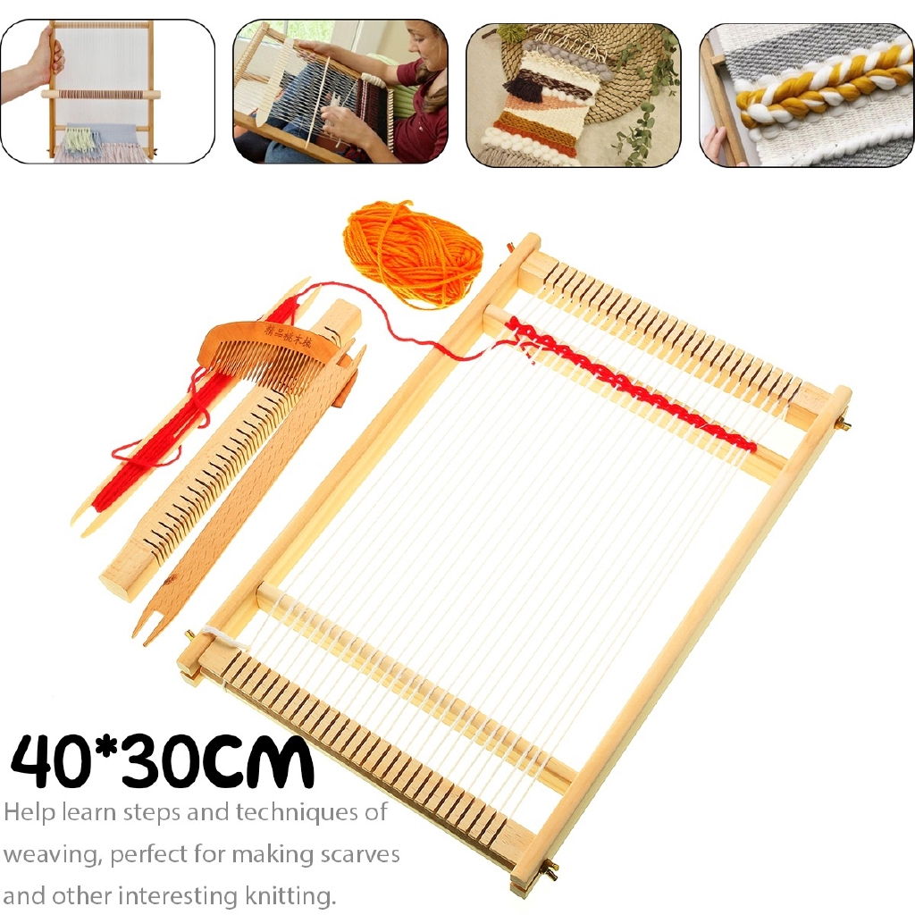 Creative Wooden Weaving Diy Toys Machine Loom Weaving Loom Kit For Children
