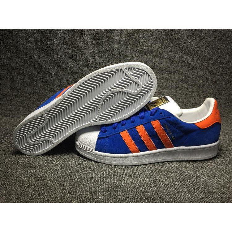 Original Adidas Superstar East River Rivalry Bold BlueOrangeMetallic