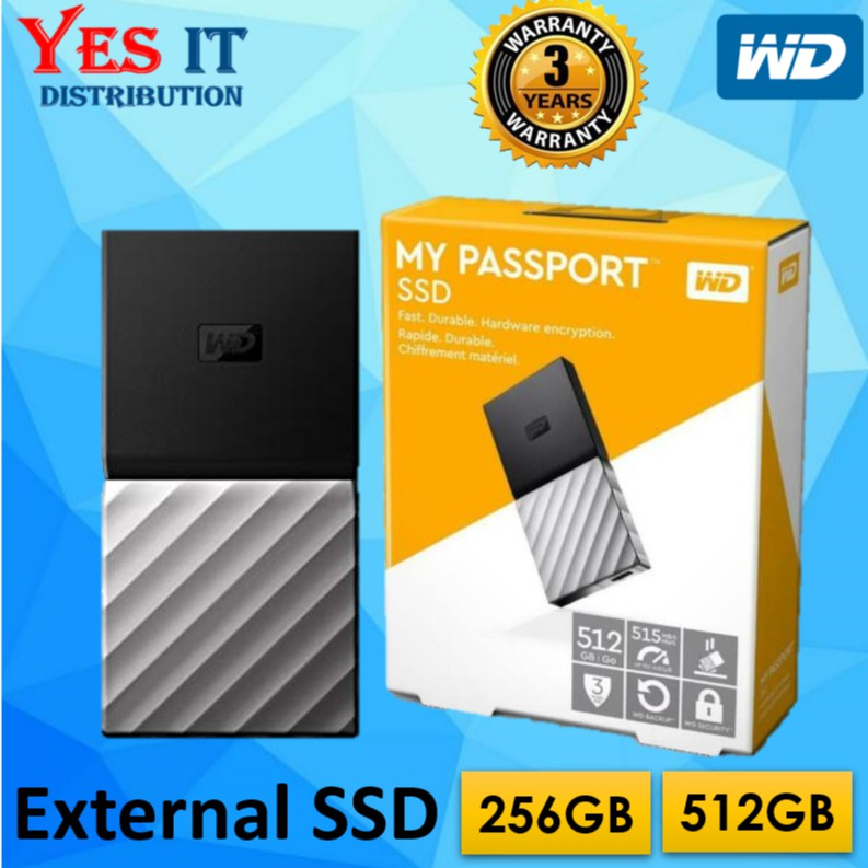 Brand New. WD My Passport SSD 1TB External USB 3.1 Gen Portable Hard Drive
