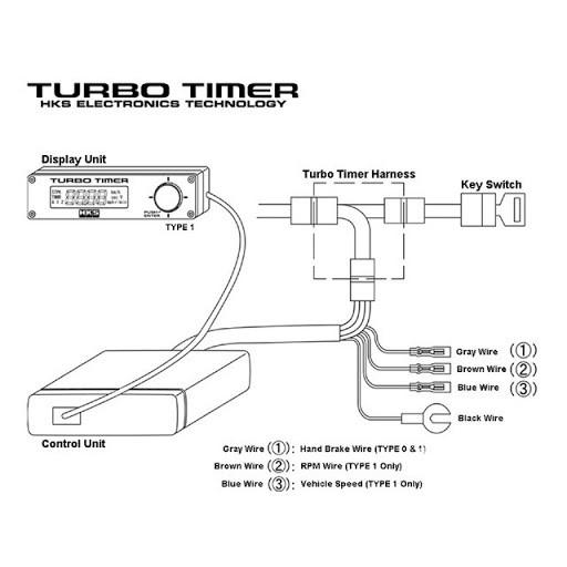 Hks Turbo Timer Auto Digital, Hks Turbo Timer Wiring Diagram