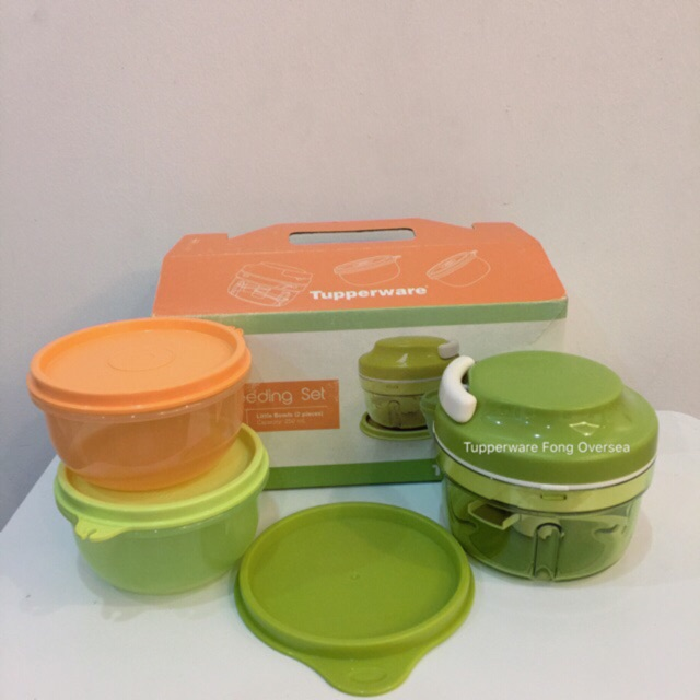 tupperware turbo chopper green set limited 3 shopee malaysia. Black Bedroom Furniture Sets. Home Design Ideas