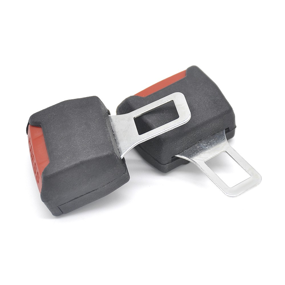Universal Car Safety Seat Belt Buckle Clip Extender Safety Alarm Stopper 1 Pair