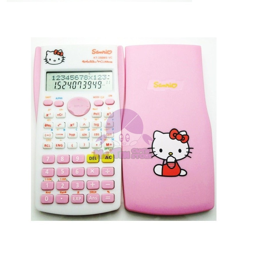 Hello Kitty Doraemon Stationery Cute Battery Electronic Scientific Calculator
