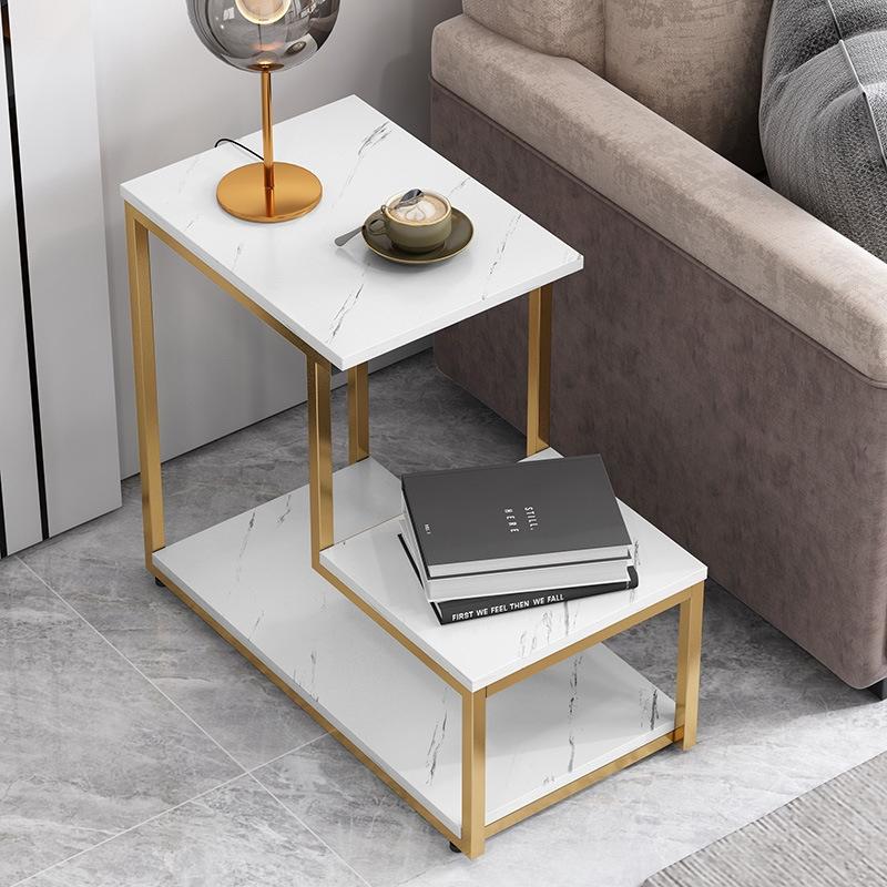 Nordic Simple Side Table Living Room Sofa Corner L Shaped Coffee Table Bedroom Creative Small Coffee Table Shopee Malaysia