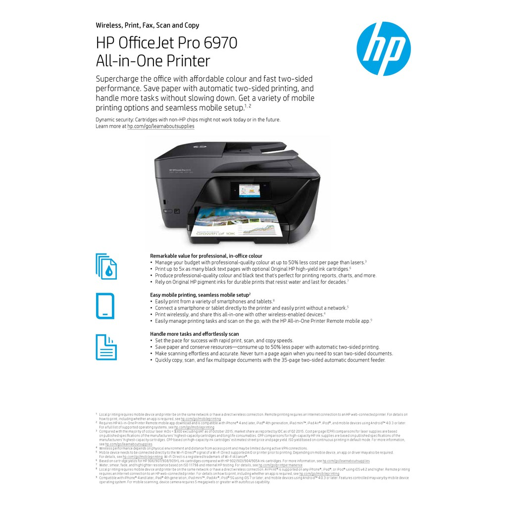 HP OfficeJet Pro 6970 All-in-One Printer (J7K34A) (Print
