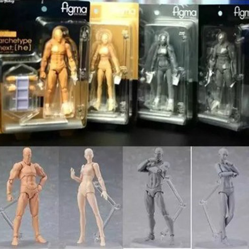 Body Male And Female Skin Color PVC Movable Figma Figure Dolls