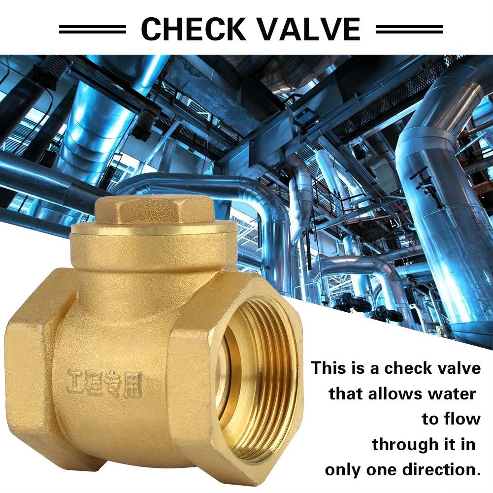 "Brass Swing Check Valves Non-Return Sizes 1//2/"" To 2/"" 15-50mm New"