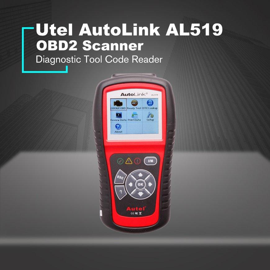 #hot#AutoLink AL519 Scanner Car DTC Reader Scan OBDII Auto Diagnostic Tool  Code