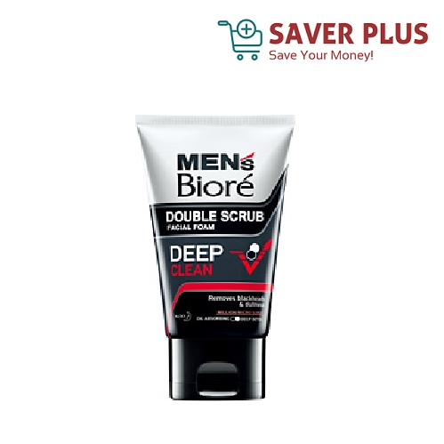 Men's Biore Facial Foam Double Scrub 50g
