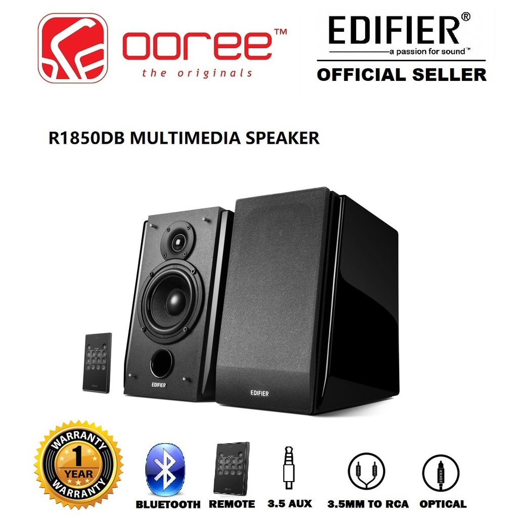 EDIFIER R1850DB BLUETOOTH SUBWOOFER SUPPORTED BOOKSHELF SPEAKER WITH  WIRELESS REMOTE CONTROLLER