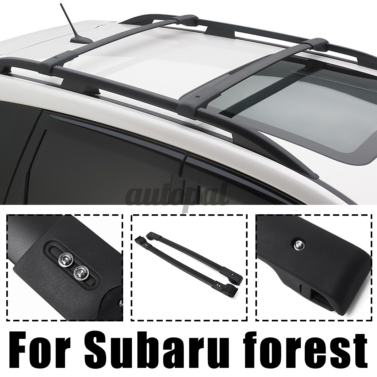 2x Car Roof Rack Cross Bars Luggage Carrier Front Back For Subaru Forester 14 17 Shopee Malaysia