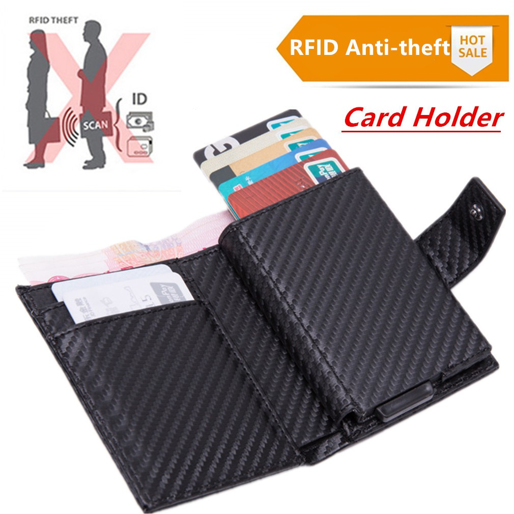 New Antitheft Credit Card Holder Smart Wallet Blocking Rfid Wallet