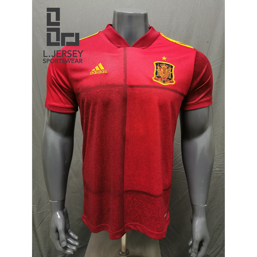 Spain Men Home Euro Cup Season 20/21 CLIMALITE Fans Jersey