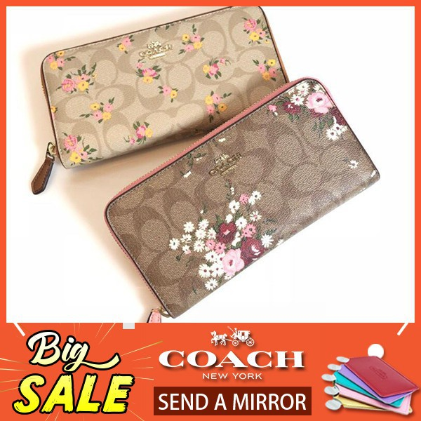 sale retailer 804e9 ef4e5 COACH กระเป๋าสตางค์ ACCORDION ZIP WALLET IN SIGNATURE CANVAS ...