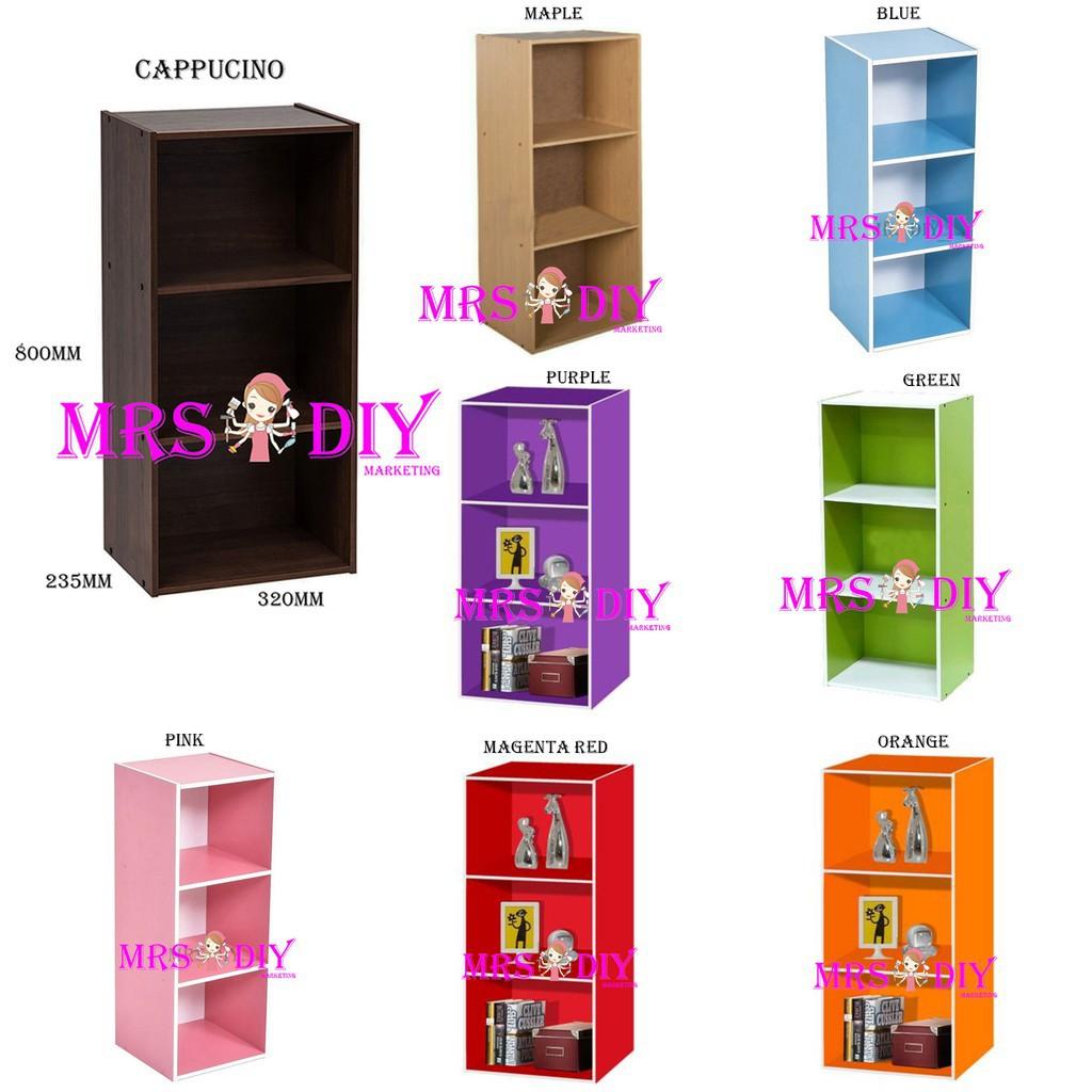 Mrs Buku Rak Utility Compartment Shelf