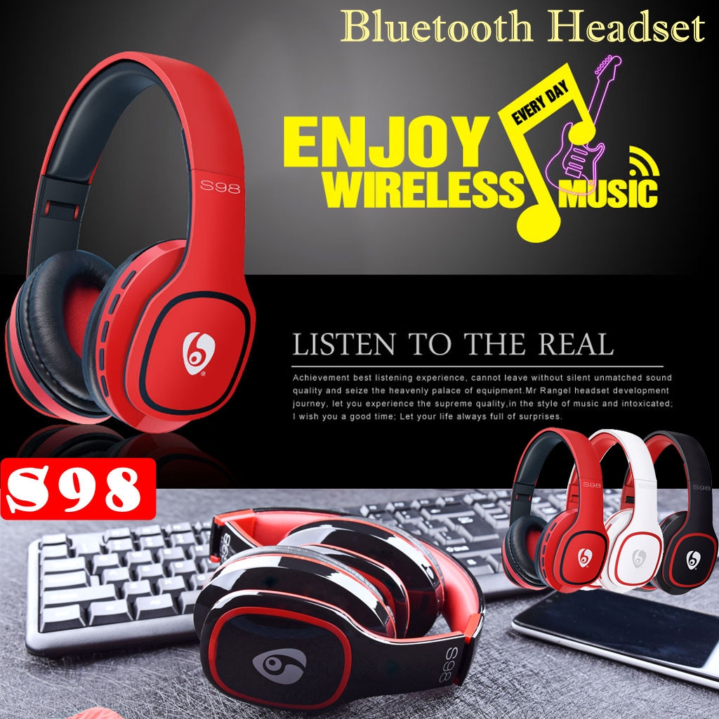 S98 Bluetooth Headphones Stereo Wireless Bluetooth Headset Gaming For Pupg Ps4 Shopee Malaysia