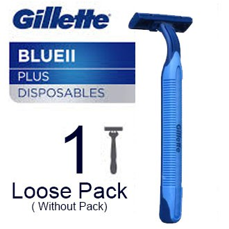 Gillette Blue 2 - Blue II Plus Disposable Razor 1pc Loose item -Without Pack