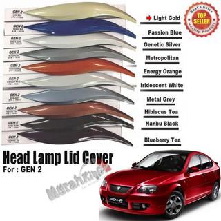 Proton Gen 2 Custom Fit ABS Car Headlamp Eyelid (Light Gold