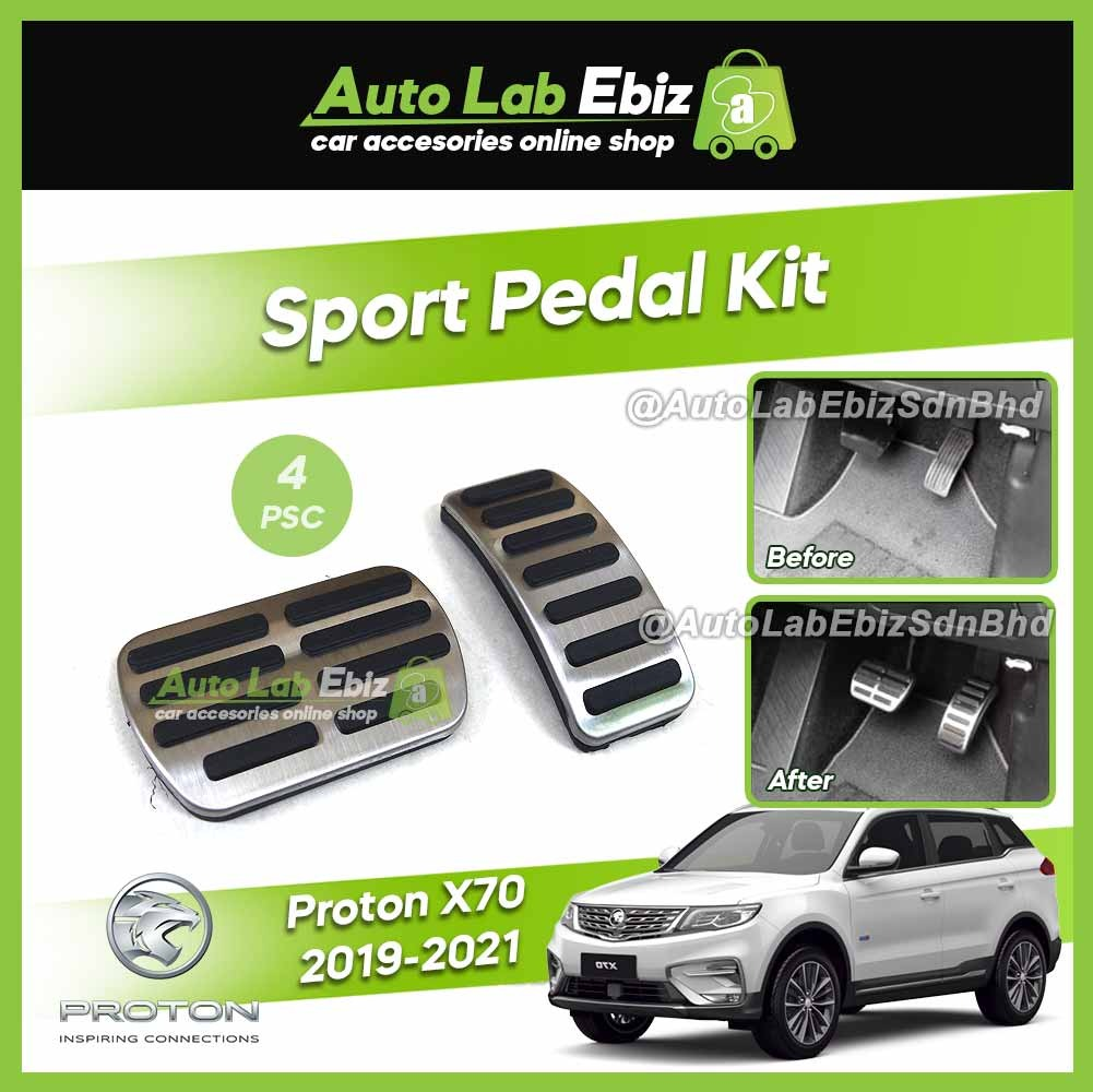 Proton X70 2019-2021 Sport Pedal Kit Cover Anti-slip Rubber with Stainless Steel