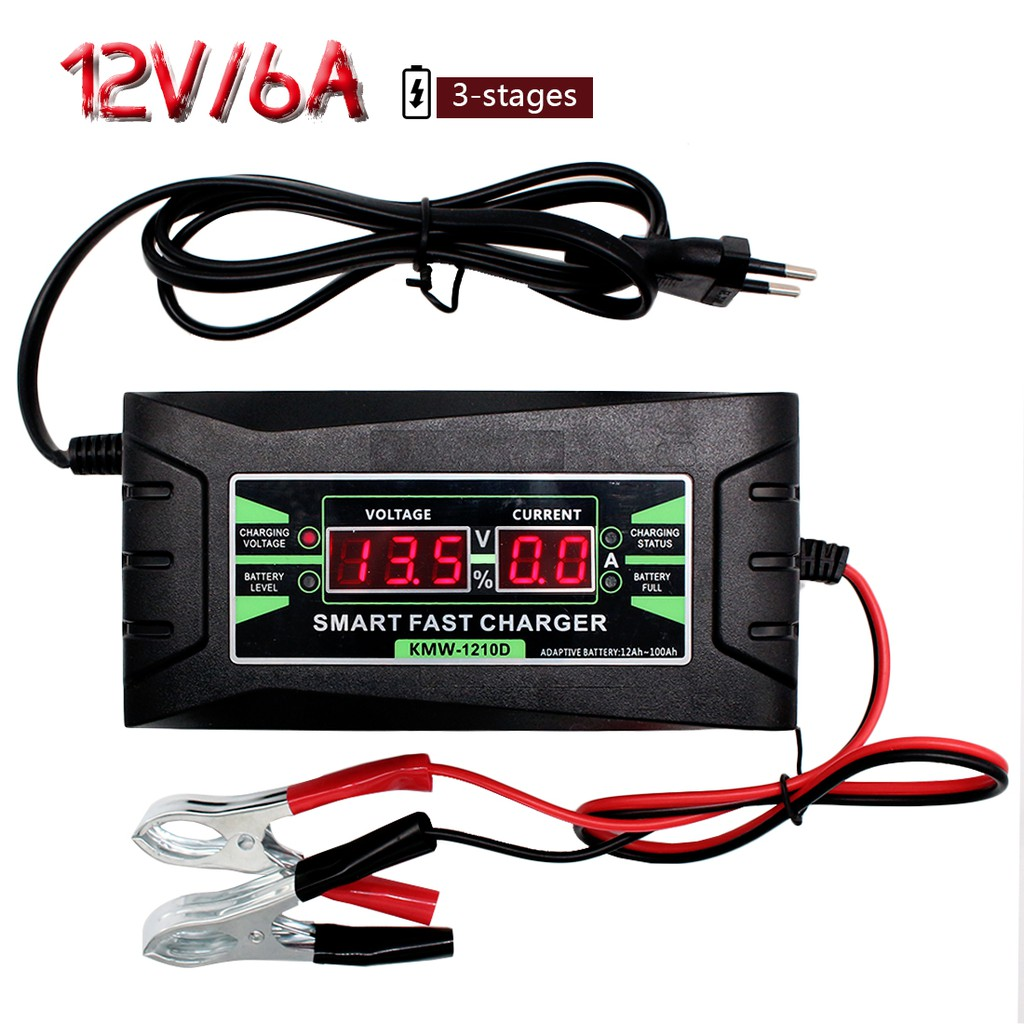 12V Car Voltmeter Green -1 Piece Waterproof IP68 Round Panel LED Digital Display Voltage Tester for Boat Motorcycle Truck-