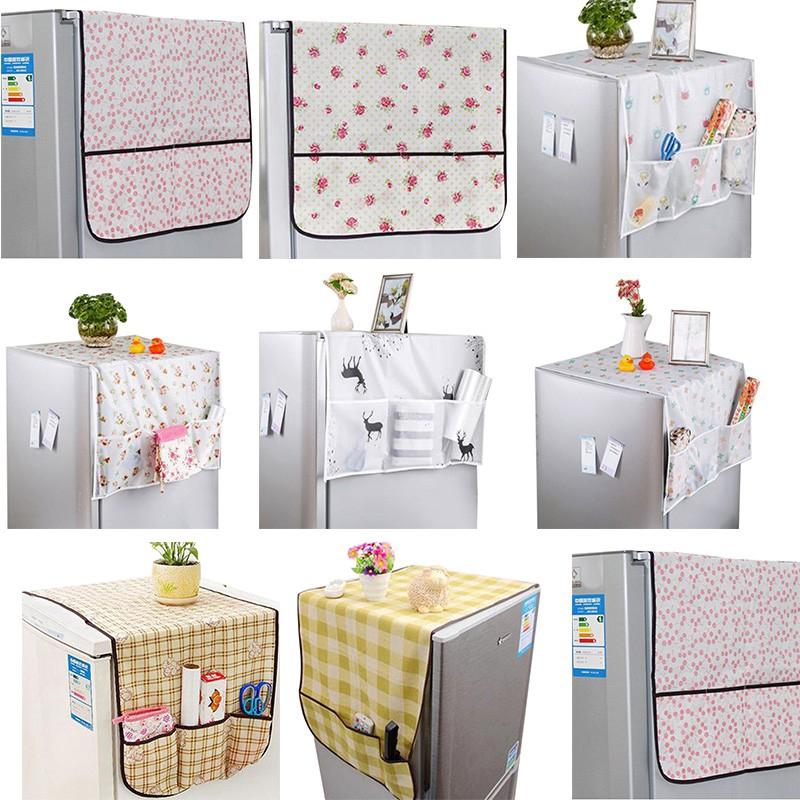 Kitchen Refrigerator Dust Proof Cover Fridge Cloth Storage Pouch Bag Organizers