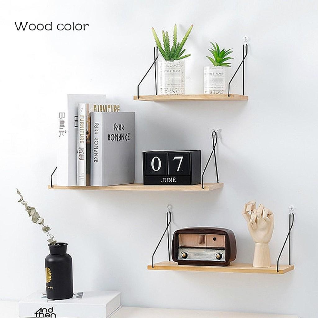 free shipping 548ab 88501 【Ready Stock 】IKEA Wooden Wall Shelf Board Bedroom Wall Hanging Storage  Rack Wall Decoration