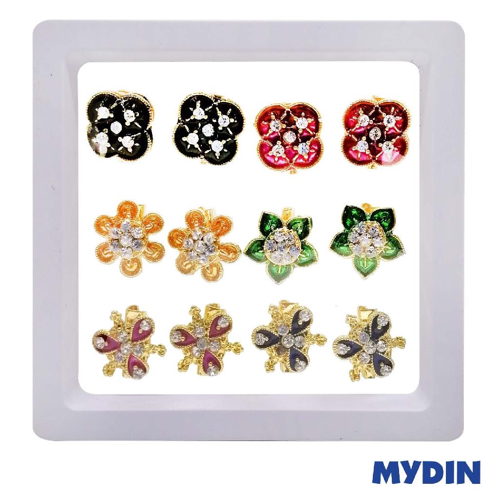 Brooch Tini Mini Assorted (12pcs) JPB655D10GC #Raya