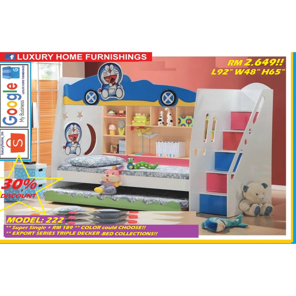 CHILDREN TRIPLE DECKER BED