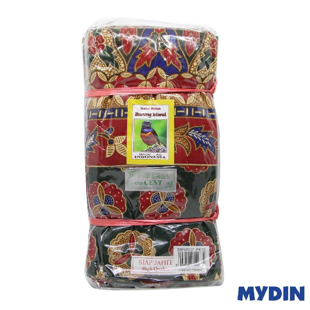 Assorted Batik Sarung Burung Murai SBPXPD07 (114cm x 200cm x 10pcs)
