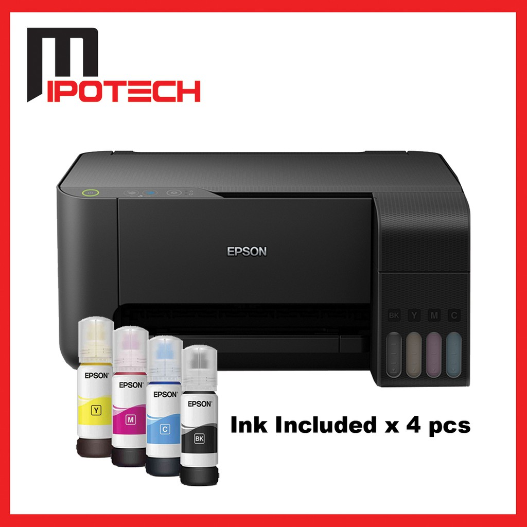 Epson Inkjet L3110 3 IN 1 Printer (Compatible ink included x 4) - NEW MODEL