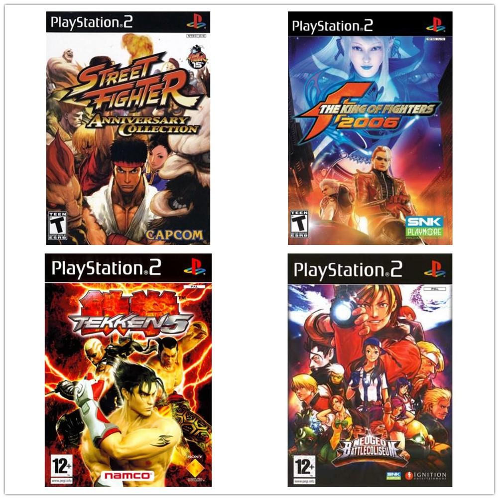 New Disc Not Used Ps2 Tekken 5 Street Fighter Sf Kof King Of