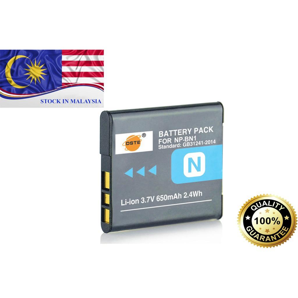 DSTE NP-BN1 Battery for Sony W560 W570 W580 W610 WX50 WX500 QX10 QX100 (Ready Stock In Malaysia)