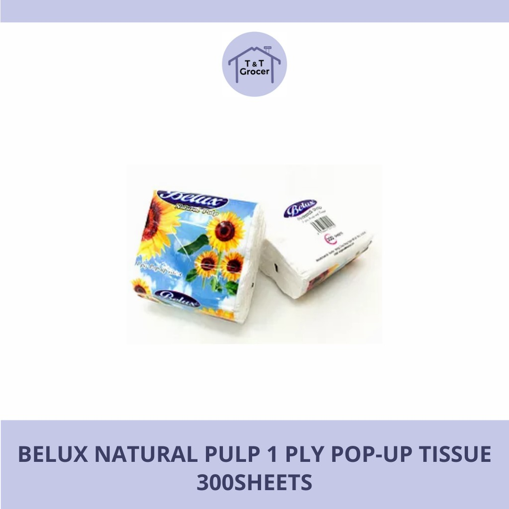 Belux Natural Pulp 1 Ply Pop-Up Tissue (300sheets)