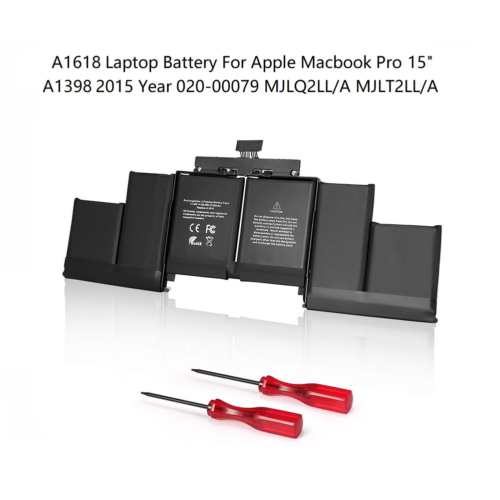 A1618 A1398 Battery For Apple MacBook Pro Retina 15.4