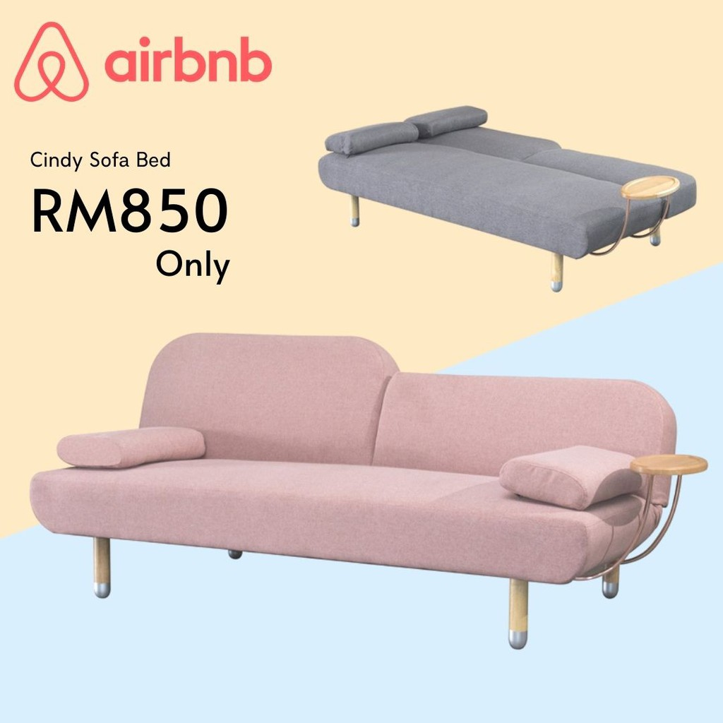 Furniture Direct CINDY sofa bed with cup holder- 2 colors/ 3 seater sofa