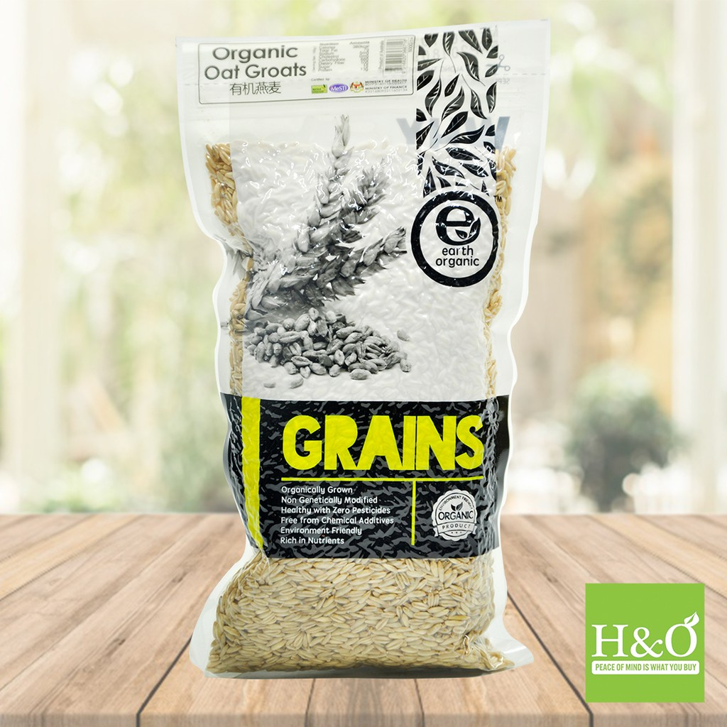 Organic Oat Groats (Earth Living) 500g