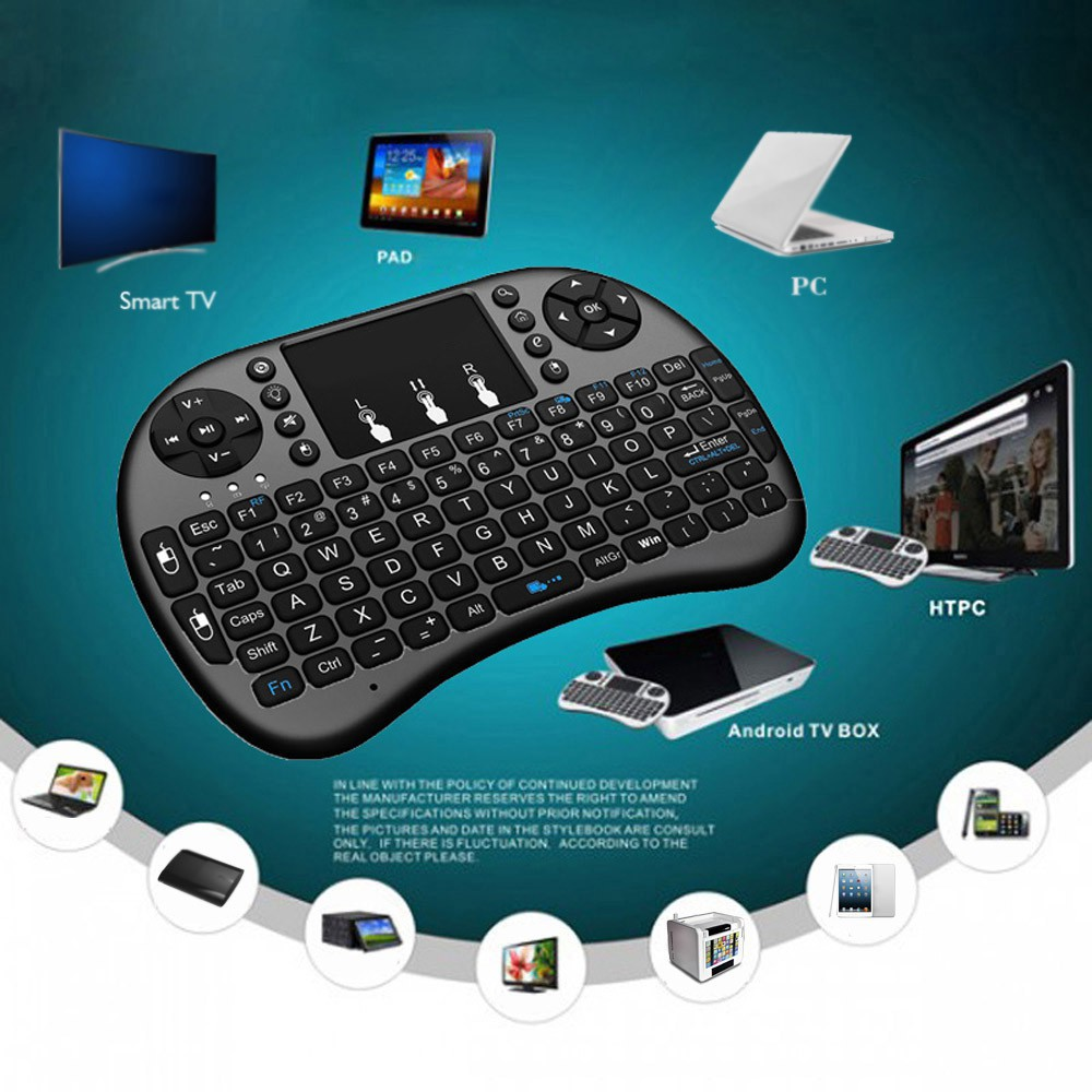 ทัชแพท แบบไร้สาย 2.4G มินิคีย์บอร์ดสำหรับ PC Kodi An