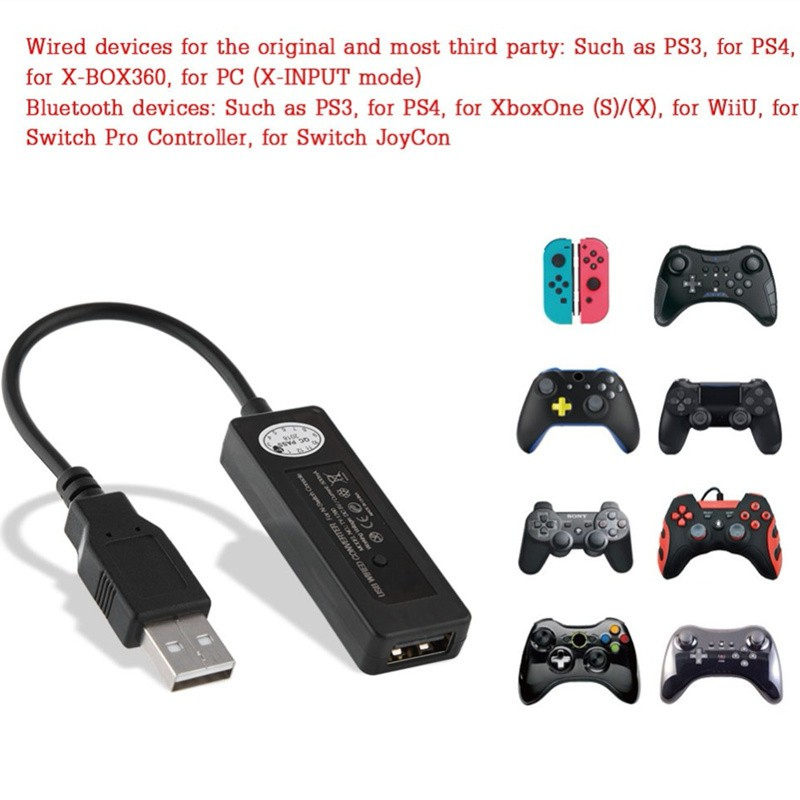 PS4 /PS3 to Nintendo Switch Console USB Controller Adapter Gamepad Converter