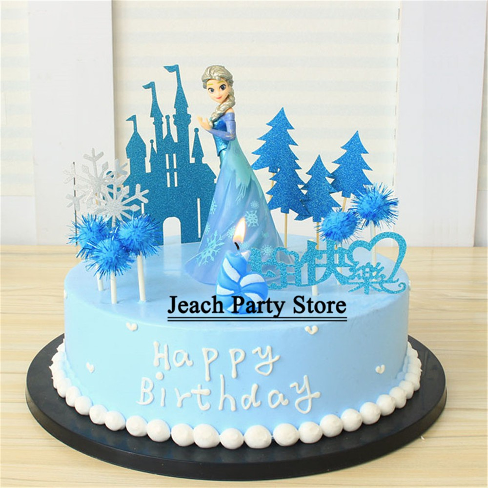 Wondrous Elsa Princess Birthday Cupcake Toppers Cake Decorating Frozen Toys Funny Birthday Cards Online Elaedamsfinfo