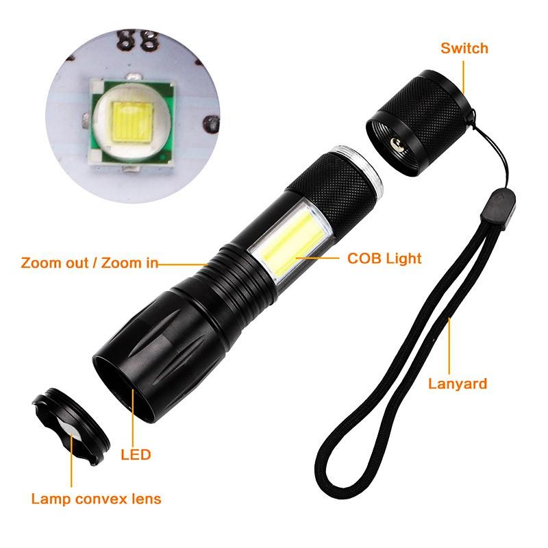 8 Head 2*XML-T6+5*XPE LED+COB Rechargeable Head Light Flashlight Torch Lamp DLHN