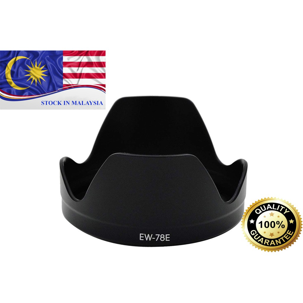 EW78E Lens Hood for CANON EF-S 15-85mm f/3.5-5.6 IS USM (Ready Stock In Malaysia)