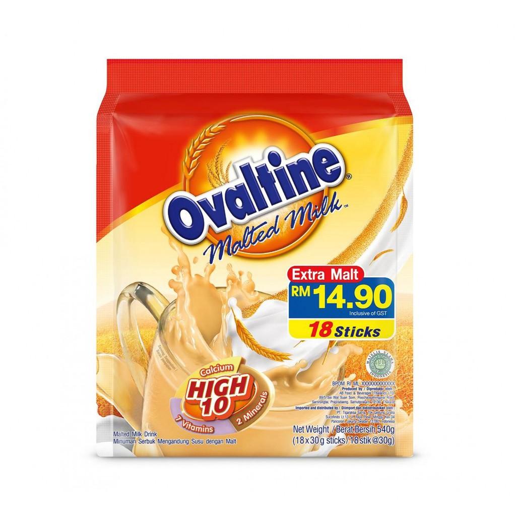 Ovaltine Malted Milk Sticks 18's x 30g