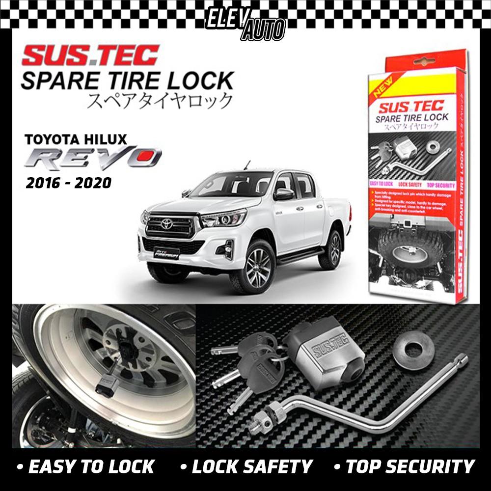 Toyota Hilux Revo 2016-2021 SUSTEC Spare Tire Wheel Lock Anti-Theft