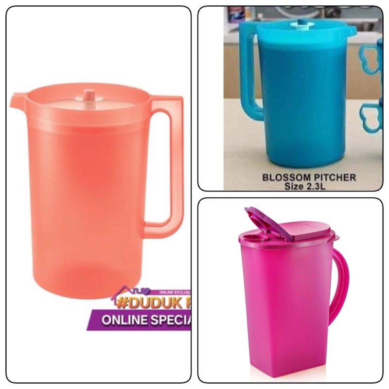 Tupperware Giant Pitcher Blossom Pitcher 2L and Purple Royale Pitcher 1.4L new item ready stock