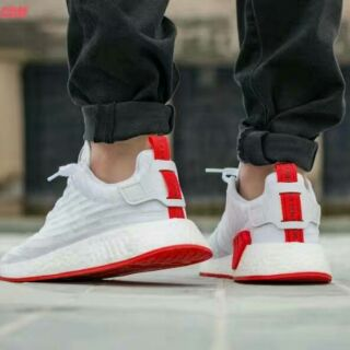 on sale bcb3f 97bb0 Adidas nmd R2 PK white/red | Shopee Malaysia