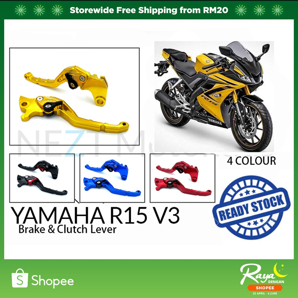 Yamaha R15 V3 Brake & Clutch Lever CNC Alloy