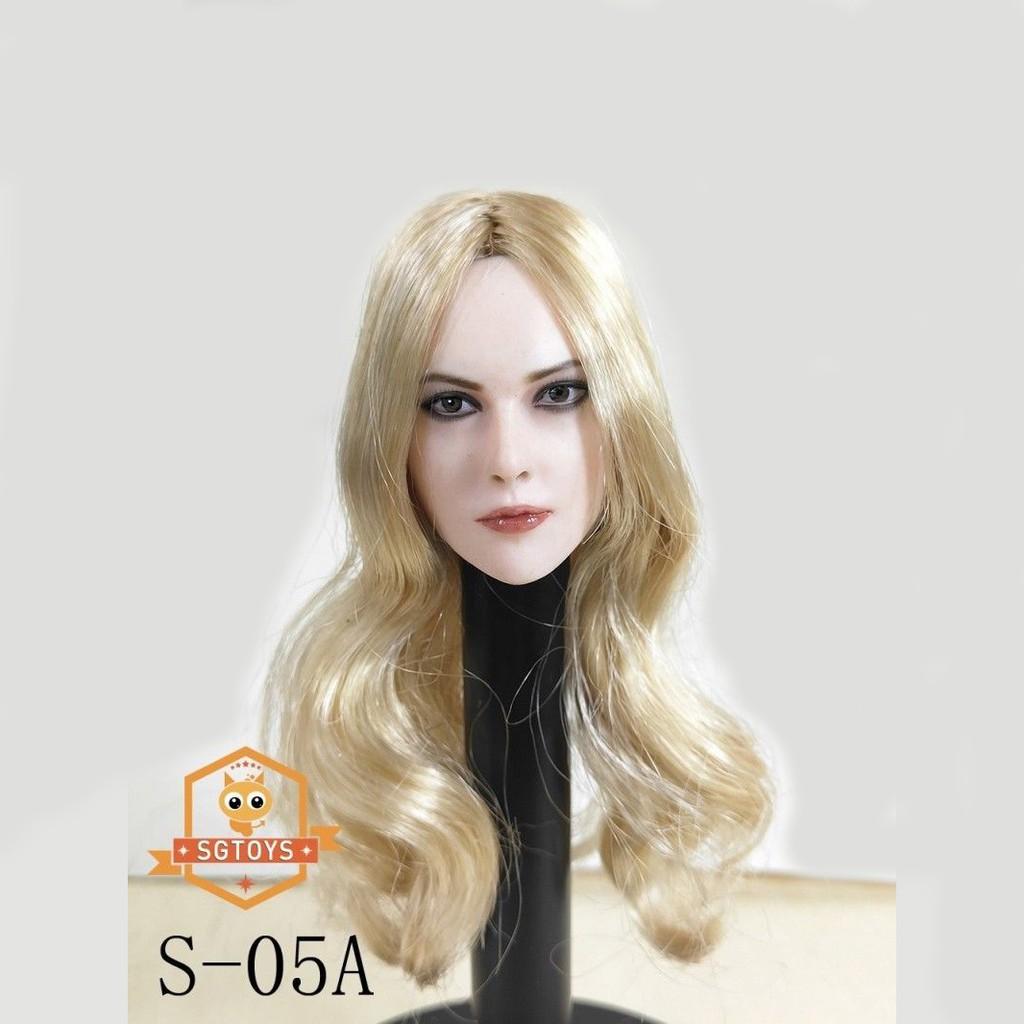 1//6 GACTOYS GC006 Female Head Sculpt Beauty Hair Carved For 12/'/' Figure Body