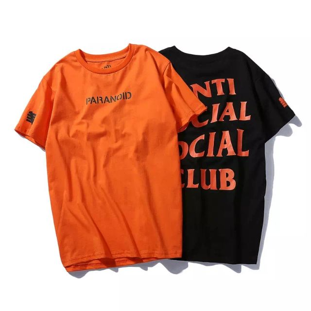 c928f82ff7f9 ASSC X Undefeated Paranoid Tee Graphic Shirt Tide Brand Kanye Kanye Letters